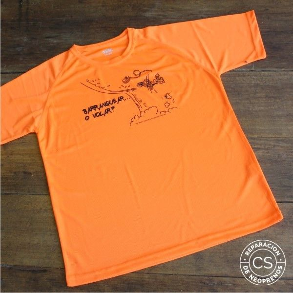 camiseta barranquismo barranquear o volar vista camiseta tecnica ropa material barranquismo canyoneering tshirt outfit equipment not boring t-shirts