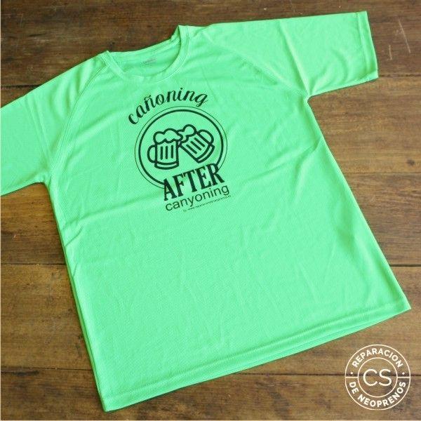camiseta barranquismo canoning-after-canyoning-vista-camiseta-tecnica-ropa-material-barranquismo-canyoneering-tshirt-outfit-equipment-not-boring-t-shirts
