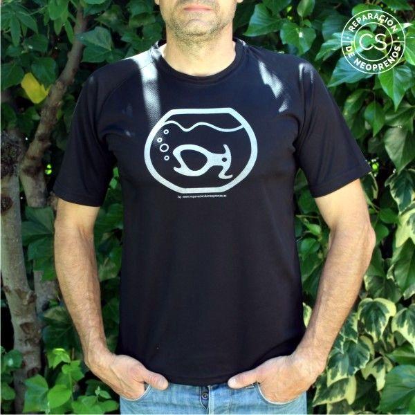 camiseta barranquismo pirana principal camiseta tecnica ropa material barranquismo canyoneering tshirt outfit equipment not boring t-shirts