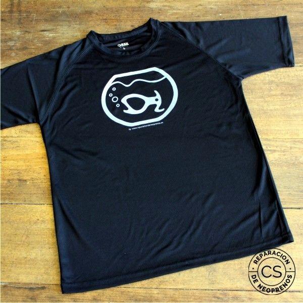 camiseta barranquismo pirana vista camiseta tecnica ropa material barranquismo canyoneering tshirt outfit equipment not boring t-shirts