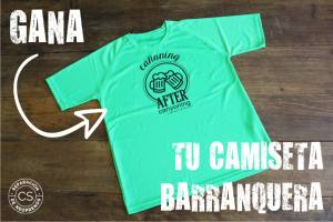 sorteo camiseta barranquera not boring t-shirts material barranquismo reparacion neoprenos coco sobrarbe