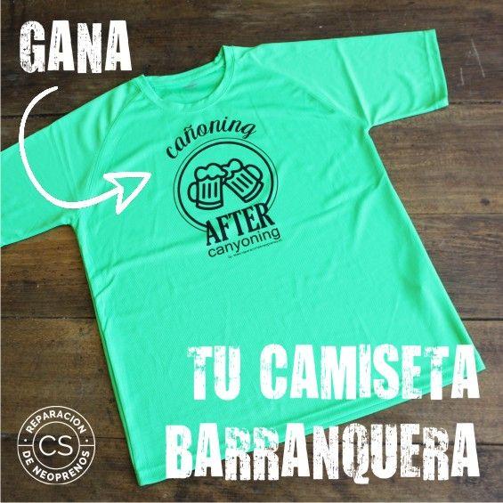 sorteo camiseta barranquera not boring t-shirts material barranquismo reparacion neoprenos coco sobrarbe destacada