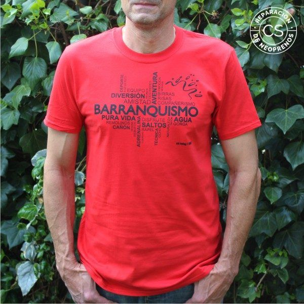 camiseta barranquismo nube principal camiseta tecnica ropa material barranquismo canyoneering tshirt outfit equipment not boring t-shirts