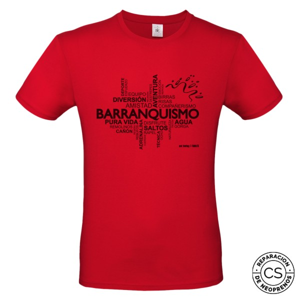 barranquismo nube principal white camiseta tecnica ropa material barranquismo canyoneering tshirt outfit equipment not boring t shirts