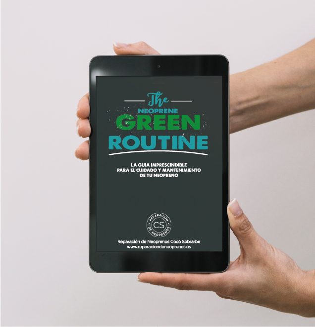 the neoprene green routine theneoprenegreenroutine mantenimiento neopreno reparar neopreno mockup